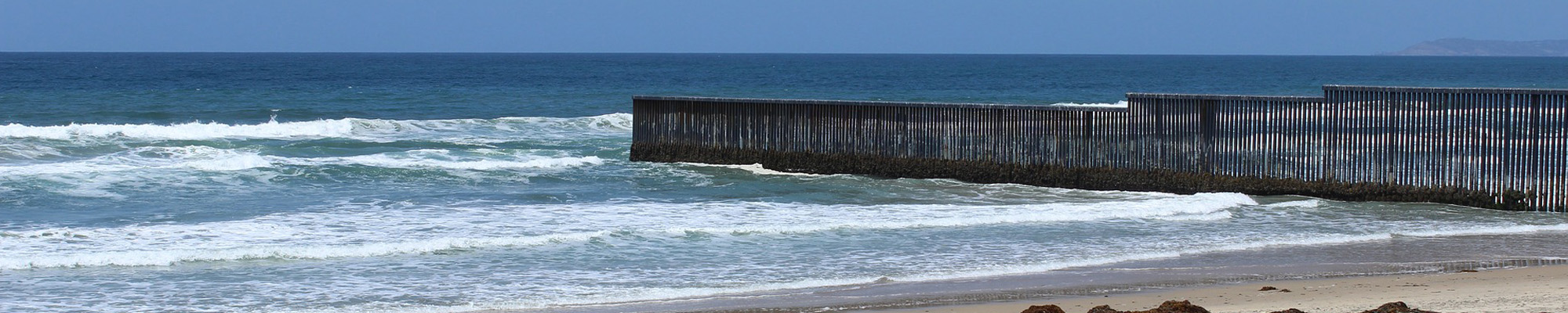 beach border fence San Diego and Tijuana